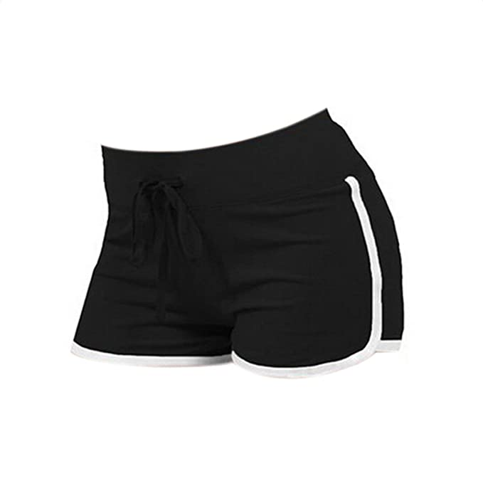Westeng Pantalones Cortos de Deporte de algodón Puro Moda Yoga Playa Casual Mujeres