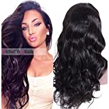 Premier Silk Top Lace Front Human Hair Wigs Glueless Body Wave Brazilian Remy Hair 130% Density Natural Loose Wave 1X3