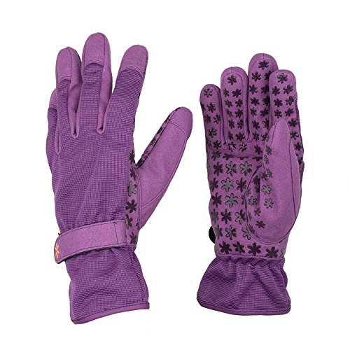 Dig It EH5-L Handwear Innovative Utility Garden Gloves with Nail Protection, Large, Purple hot sale