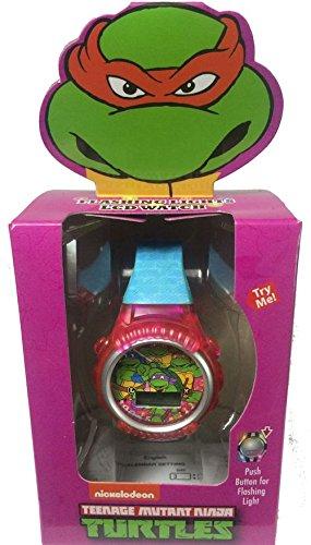 Nickelodeon Girls Teenage Mutant Ninja Turtles Flashing Lights Kid's LCD Watch (Teenage Mutant Ninja Turtles Girls)