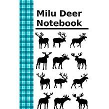 Milu Deer Notebook