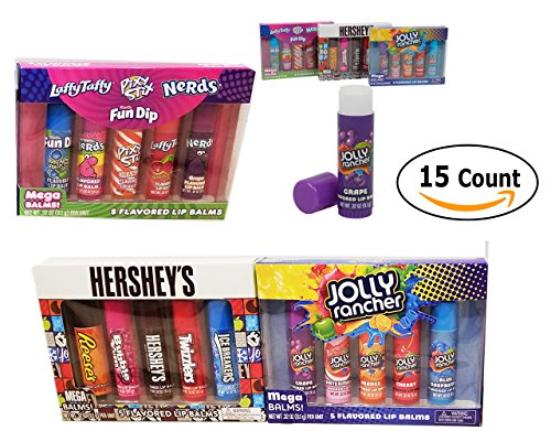 Party Favors Mega Lip Balm Candy Flavored Hershey's, Joly Rancher, & Nerds 15 - Shop Hershey Gift