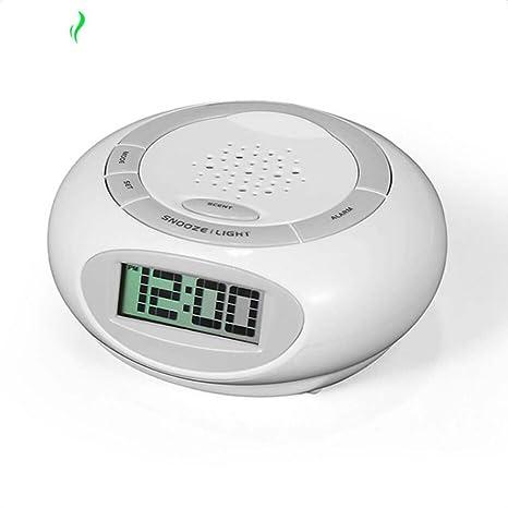 Despertador De Aromatherapy del Despertador, Humidificador del Aroma De La Niebla Fresca, Cierre Auto