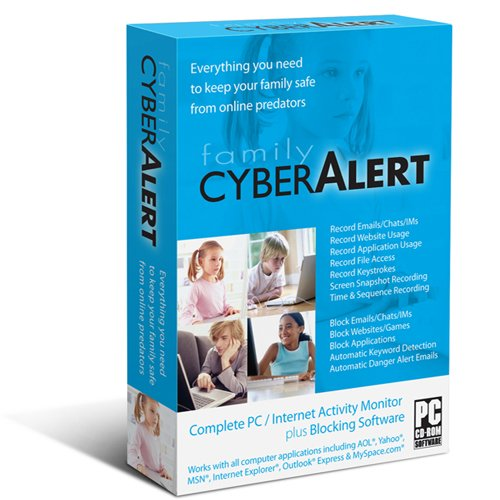 Family Cyber Alert (Version 4.41 CD+Download): Parental Control & Keylogger & Internet Monitoring & Chat Monitoring & Web Filter - Web Filter Software