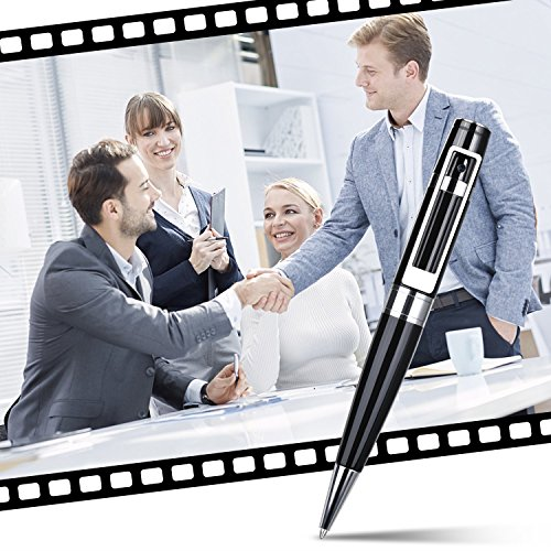Spy Camera Pen Hidden Camera Meeting Video Recorder HD 1080P Mini Portable DVR Cam Built-in 16GB Micro SD Card + 2 Ink Fills by GooSpy (Image #3)