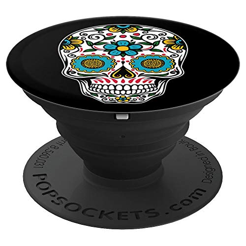 Sugar-Skull Halloween Day Dead Dia Muertos Calavera Dead - PopSockets Grip and Stand for Phones and Tablets