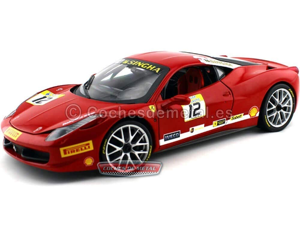 Cars Trucks Vans Hot Wheels Bct89 Ferrari 458 Challenge Racing 1 18 Diecast Model Car 12 Red Labaguettepattaya Com