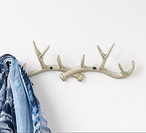 Amazon.com: Vintage fundido (10 ganchos de pared diseño de ...