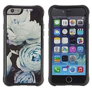 Suave TPU GEL Carcasa Funda Silicona Blando Estuche Caso de protección (para) Apple Iphone 6 PLUS 5.5 / CECELL Phone case / / White Roses Composition Art /