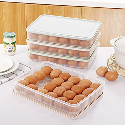24 Grids 1 Layer Egg Container Refrigerator Preservation Food Grade Plastic Egg Box With Cover WA-YA