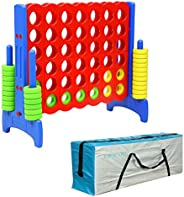UNICOO - Giant 4 in a Row Game, Jumbo 4-to-Score Giant Game Set, Backyard Games for Kids, Indoor or Outdoor Ga