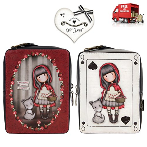 Santoro Riding With Hood Gorjuss Strap Detachable Shoulder Rectangular Bag Red Little ESqW7xwv