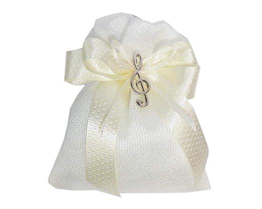 Zelda Bombonera Bolsa 10 cm algodón Blanco Colgante Llave de ...