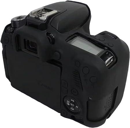 kinokoo Camera Cover Silicone Case for Canon EOS 77D(Black)