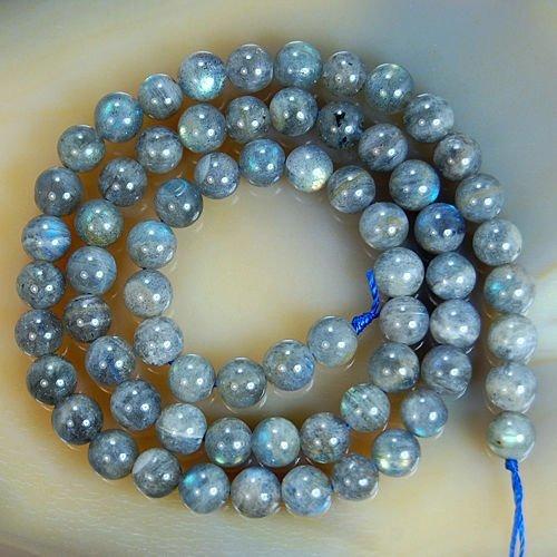 Natural Labradorite Round Loose Beads 15.5