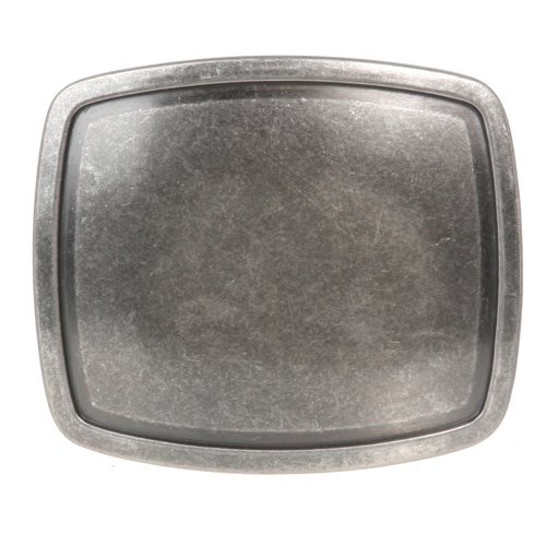 Western Plain Rectangular Hammered Vintage Belt Buckle Color: Antic (Plain Buckle)