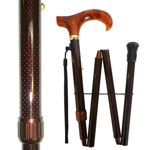 Ajustable Folding Cane/Black Carbon Fiber
