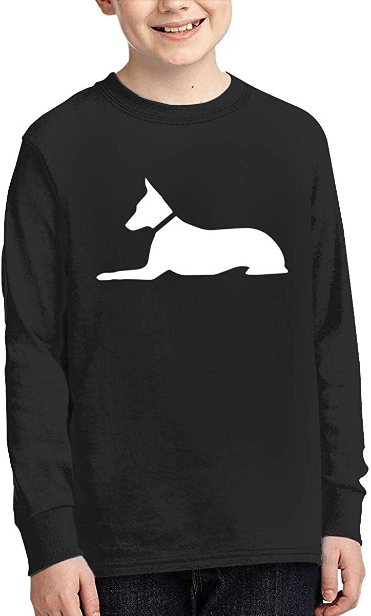 Luna The Regal Dog Teenagers Boys and Girls Universal Printed Long Sleeve 100/% Cotton Tee Shirt