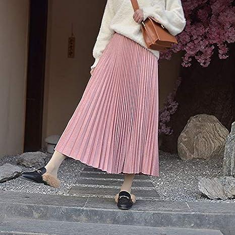 HEHEAB Falda,Dos Capas De Color Rosa De Otoño Invierno Mujer Falda ...