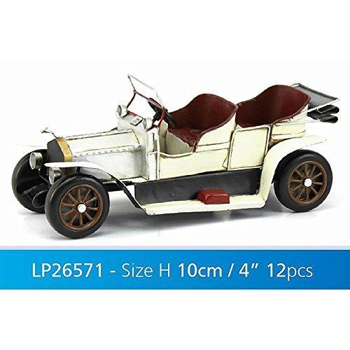 Lesser & Pavey Metal Vintage Classic Car Collectible, Silver/White Lesser & Pavey Ltd uk home LESGY LP26571