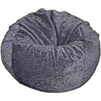 Ahh! Products Gray Chenille Washable Large Bean Bag Chair