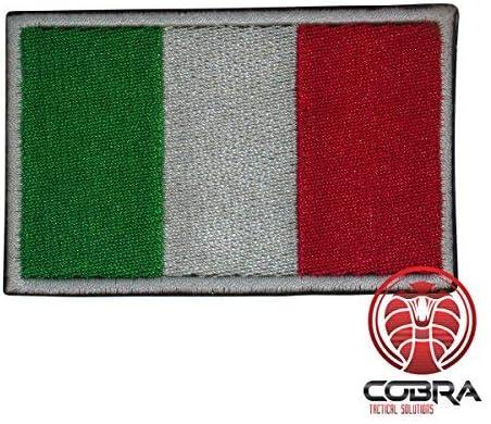 Cobra Tactical Solutions Bandera Italia Italy Parche Bordado Táctico Militar con Cinta de Gancho y Lazo de Airsoft Paintball para Ropa de Mochila Táctica: Amazon.es: Hogar