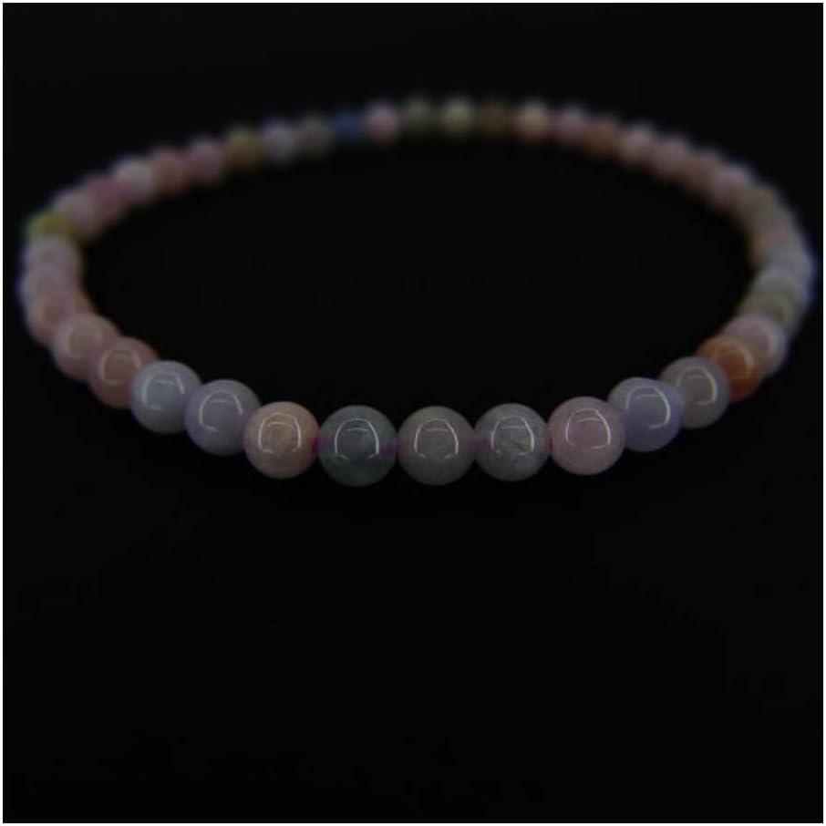 Pulsera de Aguamarina y Morganita Bola Lisa 4mm Minerales y Cristales, Belleza energética, Meditacion, Amuletos Espirituales