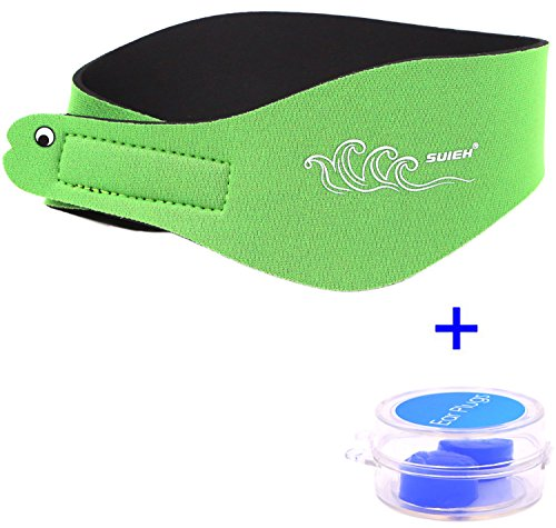 and with Free Swimming Earplugs (Green, Small: (Fit Head Size Range 14