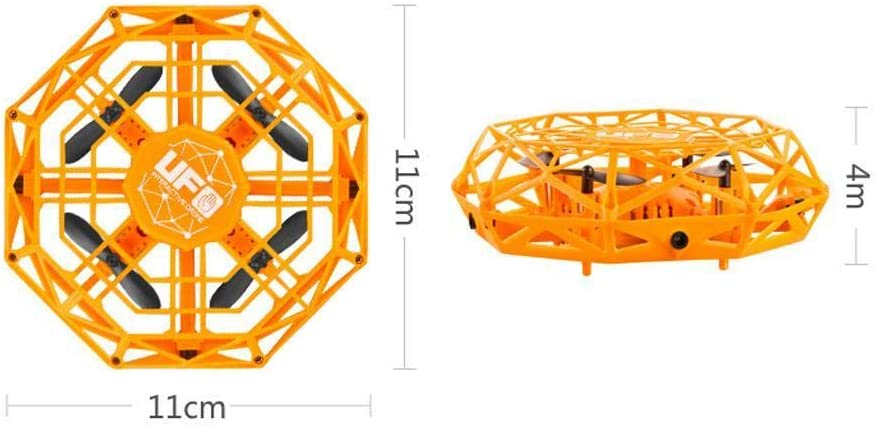 UFO Flying Toy RC Flying Ball Flying Toy Saucer Drone UFO Smart Induction Aircraft Drone de Quatre Axes de Jouet pour d/ébutants Enfants Adultes