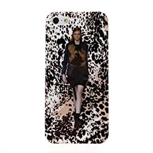 Diebell-- New Arrive Fashion cloth Model in Lepord Series Hard shell Soft For Iphone 4/4S Case Cover (C)