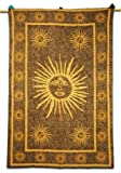 Sun Tapestry Brown Table Runner Wall Art Twin Size Bed Decor Sheet Indian Art