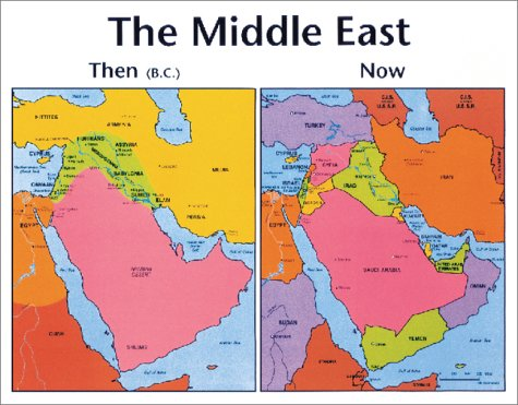 The Middle East Then and Now (Old Testament Middle East Map)