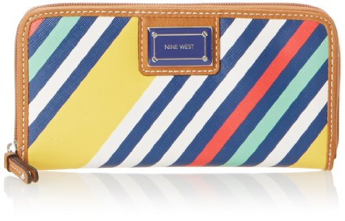 Nine West Prep It Up SLG Zip Aro SM Wallet,Prep It Up Slg Zip Aro Sm,Yellow,One Size