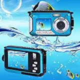 Hotkey Double Screen Waterproof Camera 24MP 16x Digital Zoom Dive Camera Perfect for Home or Outdoor Use