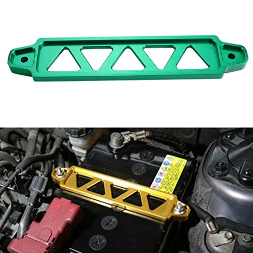 Dewhel JDM Billet Aluminum Battery Tie Down For Honda Civic Acura Rsx Ep3 Dc5 Si (Green) by Dewhel