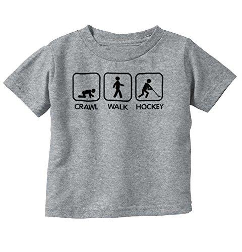 Crawl Walk Ice Hockey Athlete Parents Baby Infant Toddler T Shirt