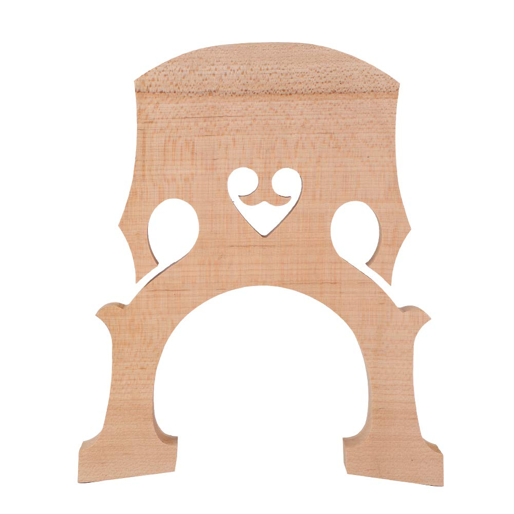 Bnineteenteam Cello Bridge Maple Wood Cello Bridge Cello Replacement Parts Instrument Accessory(3/4)