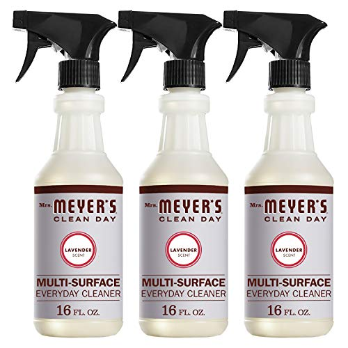 Mrs. Meyer's Clean Day Multi-Surface Everyday Cleaner, Lavender, 16 ounce bottle (Pack of 3)