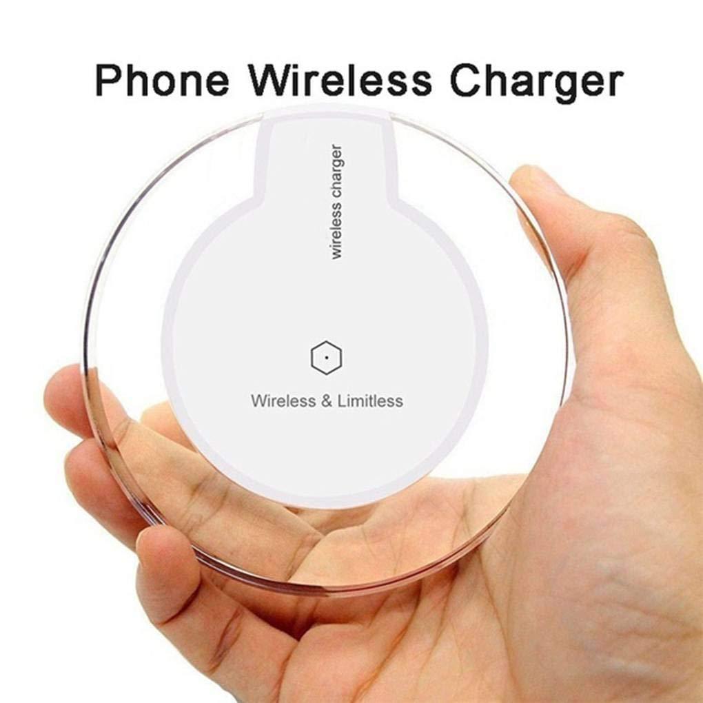 Sunlera Cargador inal/ámbrico Ronda Universal para iPhone X Tel/éfono Qi Fast Charge Base de Carga inal/ámbrica