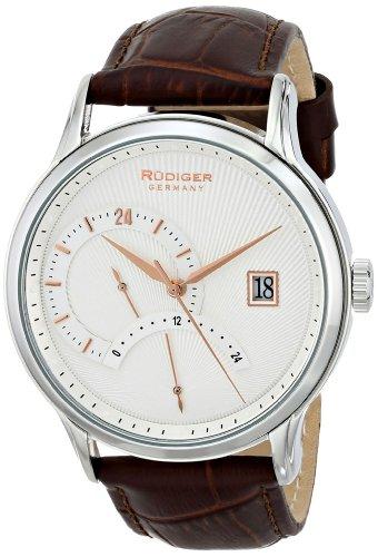 Rudiger Men's R2700-04-001.16 Aachen Analog Display Quartz Brown Watch