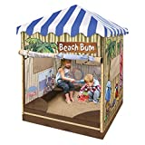 Most Popular Kids Children Outdoor Backyard Covered Canopy Sandbox Playhouse Activity Center Toys- The Perfect Year-Round Beach Adventure- Sturdy Solid Wood Construction- UV Resistant- Water Resistant
