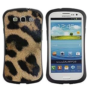 "Hypernova Slim Fit Dual Barniz Protector Caso Case Funda Para SAMSUNG Galaxy S3 III / i9300 / i747 [Patrón de piel animal de África Naturaleza""]"