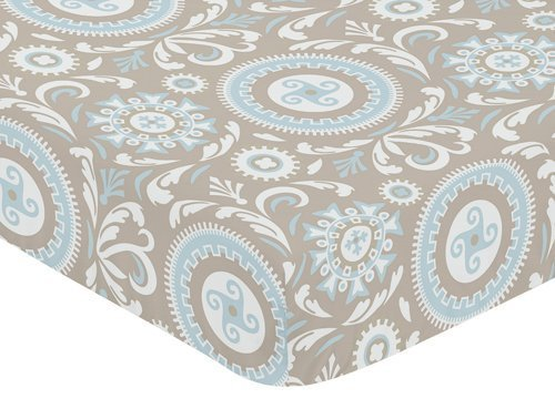 Sweet Jojo Designs Fitted Crib Sheet for Hayden Baby/Toddler Bedding - Medallion Print