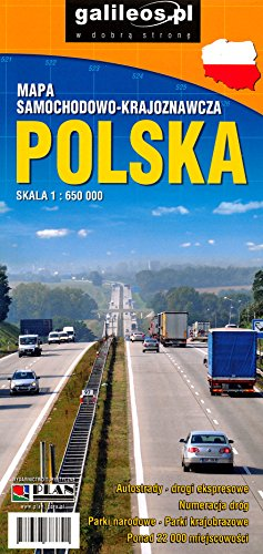 Poland 1:650,000 Road Map, waterproof ***MADE IN POLAND***