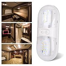 Kohree LED Dome Light Fixture, 12V Natural White, Interior Light for RV/Trailer/Camper