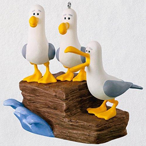 Hallmark Keepsake Christmas Ornament 2018 Year Dated, Disney/Pixar Finding Nemo Mine! Mine! Mine! Seagulls With Sound