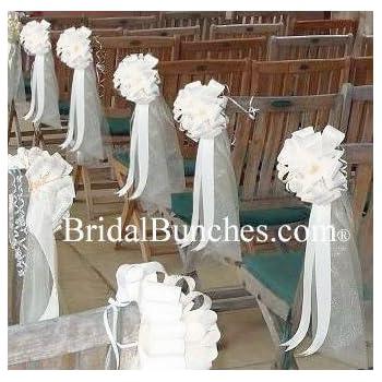 Amazon White Tulle White Satin Wedding Pew Bows Church