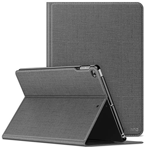 Infiland iPad 9.7 2018/iPad 9.7 2017/iPad Air 2/iPad Air Case, Multiple Angle Stand Cover Compatible with Tablets A1893/A1954/A1822/A1823/A1566/A1567/A1474/A1475/A1476 (Auto Wake/Sleep), Gray