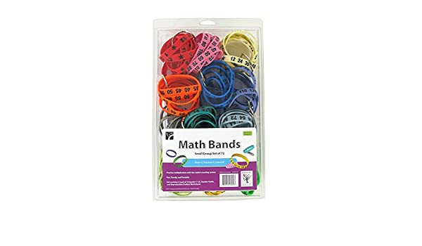 Amazon.com: Math Bands for Multiplication Practice (Set of 72 ...
