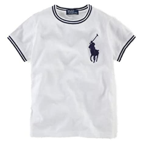 Ralph Lauren Niños Camiseta de Big Pony Polo Jinete Blanco Polo ...